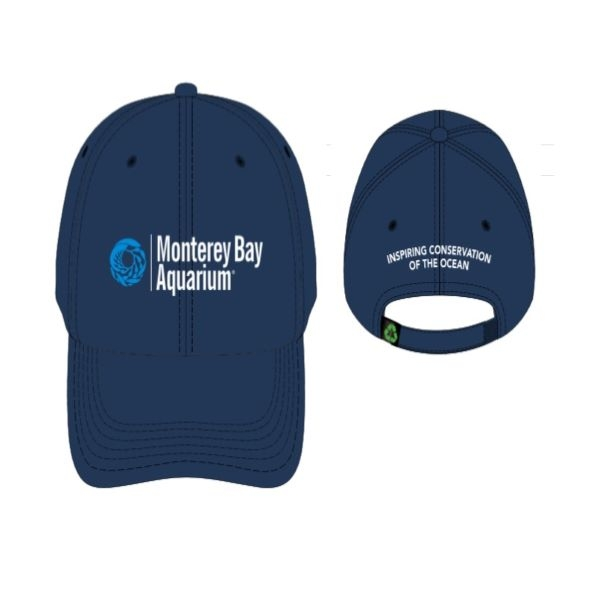 ADULT BASEBALL HAT RECYCLED PET LOGO NAVY