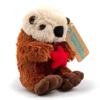 SEA OTTER WITH RED STAR SIGNATURE PLUSH 6.5""