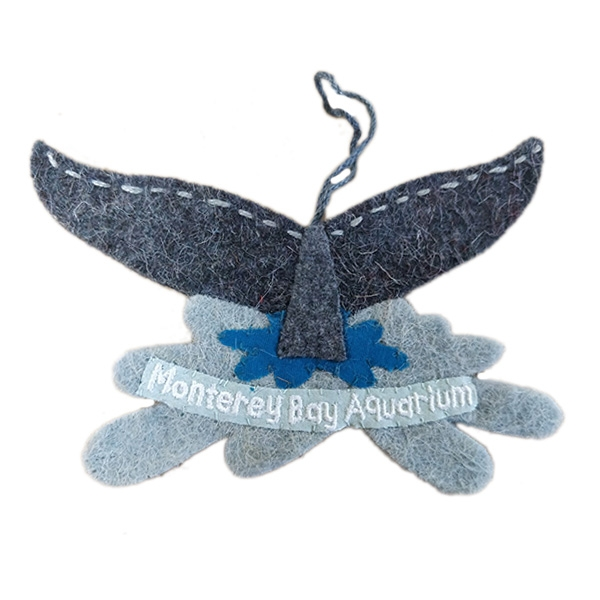 RECYCLED WOOL ORNAMENT WHALE TAIL