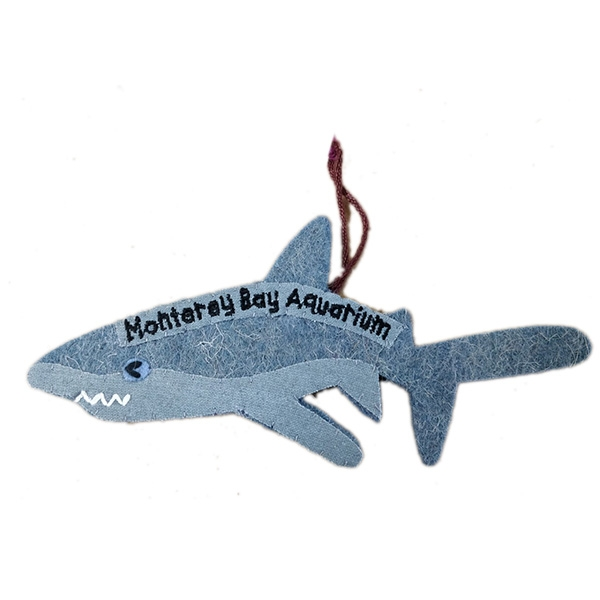 RECYCLED WOOL ORNAMENT SHARK