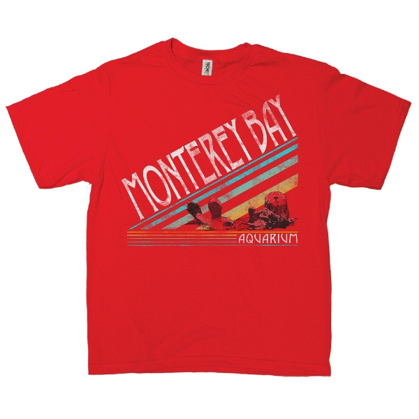 YOUTH SHORT SLEEVE TEE OTTER STRIPE RED