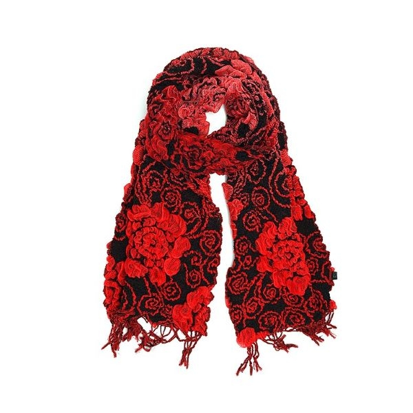 BAMBOO FIBER SCARF RED