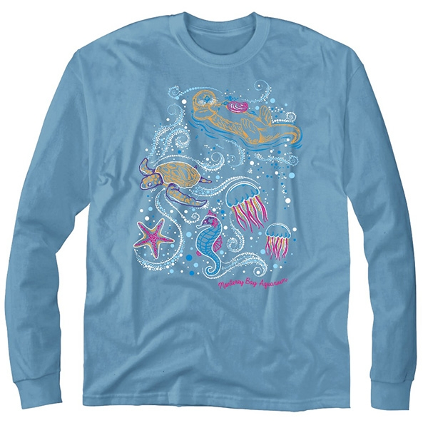 YOUTH LONG SLEEVE TEE BEDAZZLED COLLAGE SKY