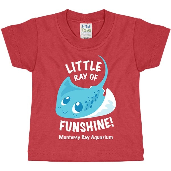 INFANT SHORT SLEEVE TEE RAY OF FUNSHINE RED