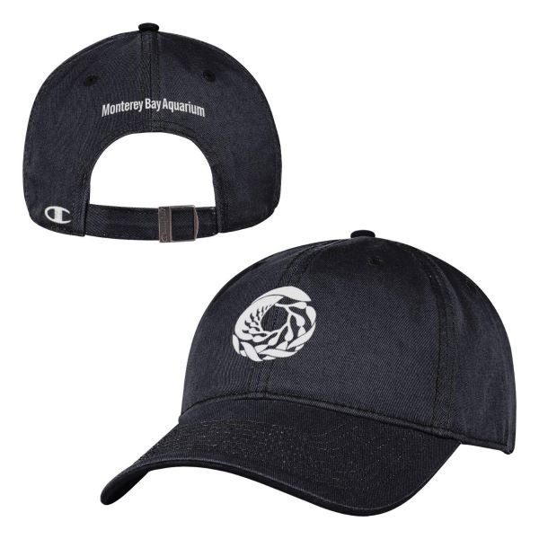 CHAMPION ADULT BASEBALL HAT LOGO BLACK