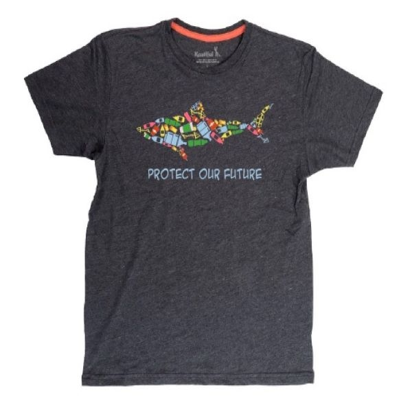 ADULT SHORT SLEEVE TEE SHARK TRASH CARBON
