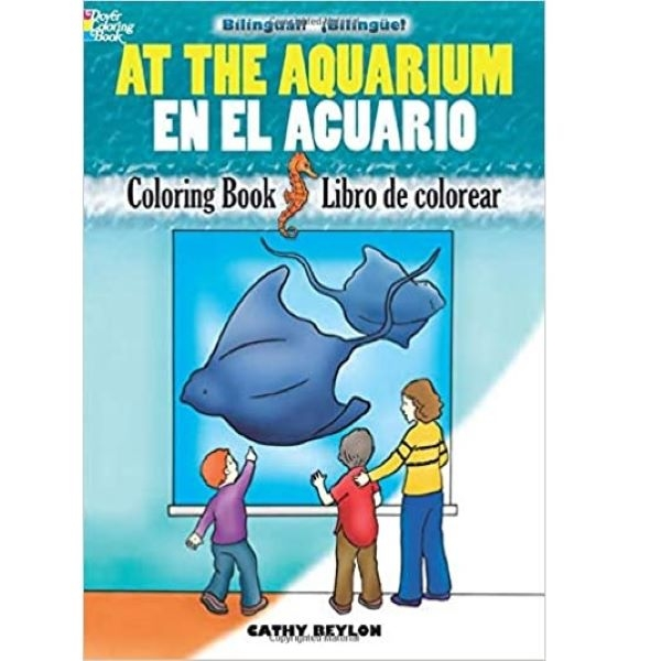 COLORING BOOK AT THE AQUARIUM / EN EL AQUARIO