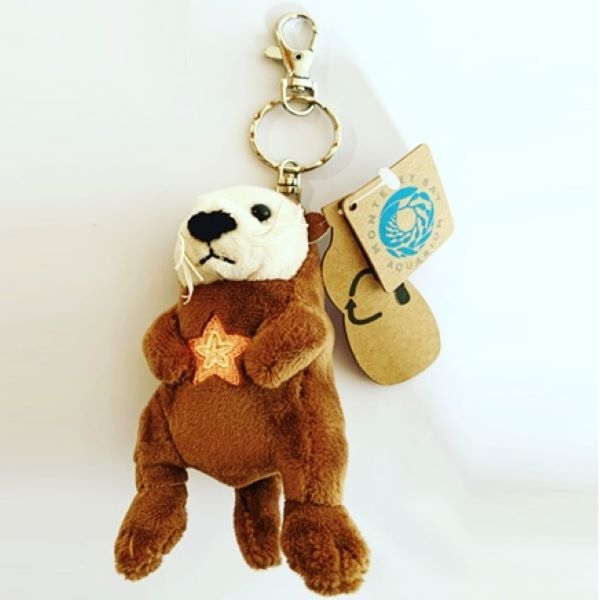 SEA OTTER SIGNATURE PLUSH KEYCHAIN