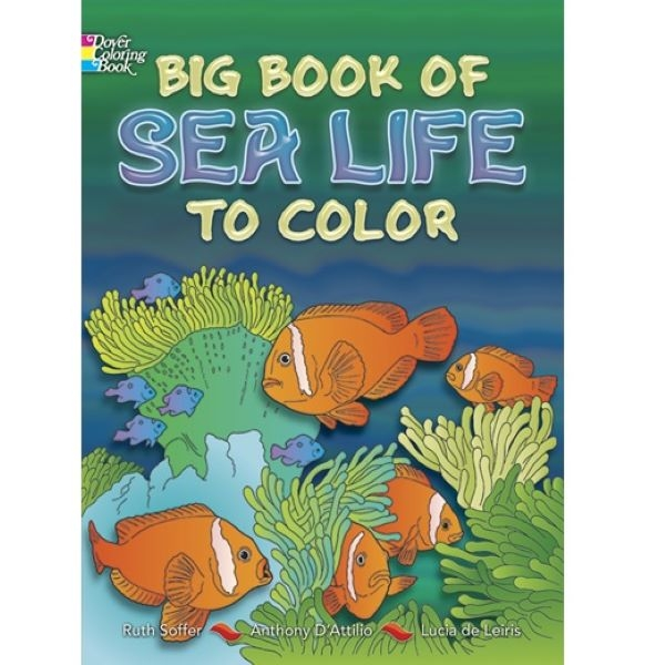 COLORING BOOK BIG BOOK OF SEA LIFE TO COLOR