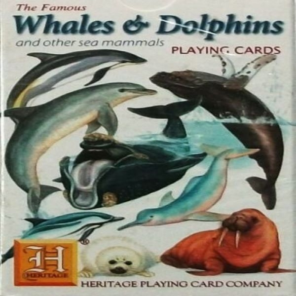 PLAYING CARDS DOLPHINS WHALES