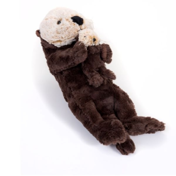 SEA OTTER WITH PUP SIGNATURE PLUSH 20""