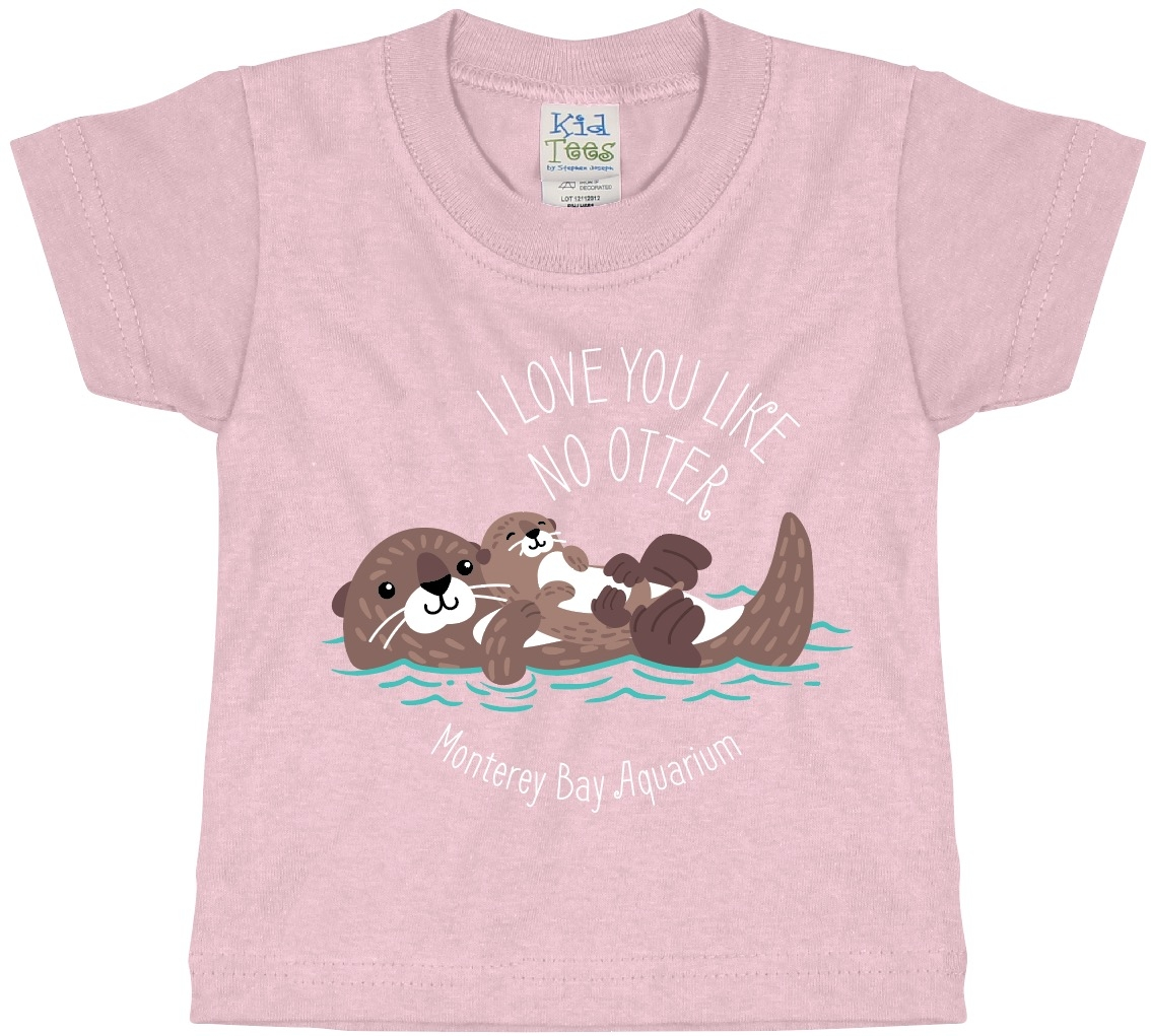 INFANT SHORT SLEEVE TEE LOVE YOU LIKE NO OTTER