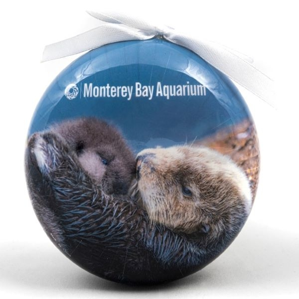 ORNAMENT SEA OTTER MOM AND PUP