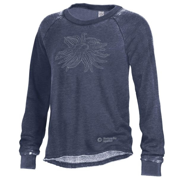 WOMENS LONG SLEEVE CREW PULLOVER NAVY
