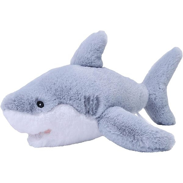 GREAT WHITE SHARK PLUSH ECOKIN 12""